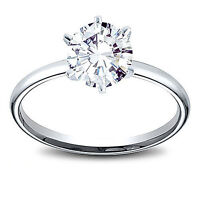 1.08 ct F I2 GIA Round Cut  Diamond Engagement Ring in 14k Gold