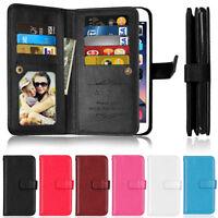 Deluxe 9 Card Wallet Leather Flip Case Cover For LG G2 G3 G4 G5 G6 Q6 K7 K8 K10