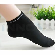 Women's Fashion Cotton Gym Sport Non Slip Massage Yoga Fitness Socks Black