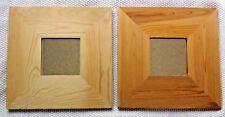 "Set of 2 Ikea Malma 21883 Small Wood Square Wall Mirror Tile 10"" 26 cm"