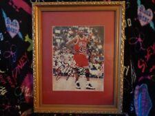Michael Jordan Authentic Autograph Signed 8x10 Photo Mint Matted & Framed Auto