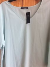 BNWT M & S Collection Size 24 Duck Egg Short Sleeved Top