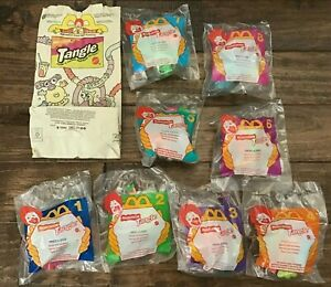 1996 McDonald's Happy Meal Toys  - NICKELODEON TANGLE -  Mint Set (8) + 1 Bag