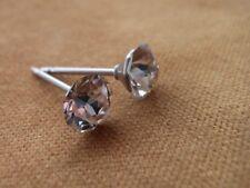 HYPOALLERGENIC Stud Earrings Lead Free Nickel Free Swarovski Elements in CLEAR