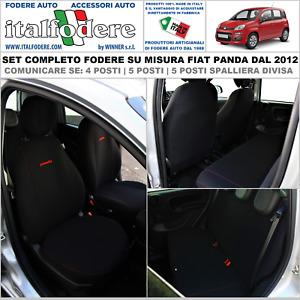 COPRISEDILI FIAT PANDA DAL 2012 CON LOGO 1//3-2//3 BICOLORE NERO MIMETICO CHIARO