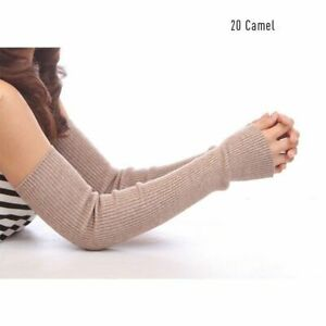 Sexy Women's Gloves  Wool Arm Warmers Knitted  Autumn Winter Spring 40 50 60 cm
