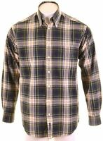 GANT Mens Shirt Medium Multi Check Cotton Sport Fit University Oxford JV13