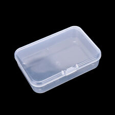 Clear Plastic Transparent With Lid Storage Box Collection Container Case Had WCA