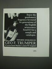 1989 Geo. F. Trumper Perfume Ad - Enjoy the gentlemen's fragrance