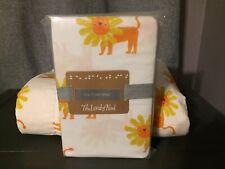 Land of Nod Organic Cotton Lion Quilt & Sheet Nursery Crib Bedding