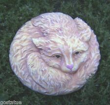 "cement plaster cat stepping stone plastic mold 8"" x up to 3/4"" thick"
