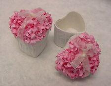 Mini Hydrangea Flower Heart Shape Natural Paper Gift Box Party Wedding Decor