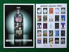 Pubblicità Advertising Cartolina vodka (Italy) ABSOLUT COLLECTION 2000 132/2101
