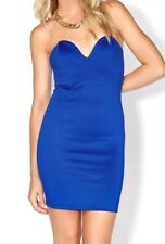Strapless Blue Bodycon Mini Dress Material Is Stretchy Size 10 Free Post