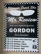 MR. REVIEW & GORDON | Poster A1 von 1997 | neu | Rude & Visser SKA Tourposter