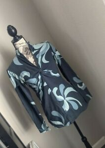 Patagonia Base Layer Floral Twist Tie V Neck Long Sleeve Shirt Size Small (K)