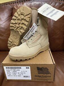 US. MilitaryMcRae Combat Boots Desert Size 9 1/2 W,New
