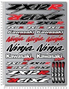 ZX-12R Aufkleber set stickers decal kawa ZX12R grafik Laminiert Rot