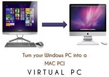Windows a Mac Osx 10 11 Virtual PC, VMware 14 Pro totalmente instalado