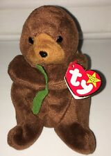 RARE TY BEANIE BABIES SEAWEED THE OTTER
