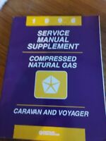 1996 Dodge Caravan Voyager Natural Gas Service Manual Supplement