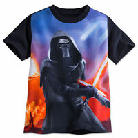 Disney Store Star Wars Kylo Ren Sumlimated Art Boys T Shirt Size 4 7/8 10/12 14