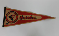 Baltimore Orioles vintage full size pennant! RARE! Guaranteed Authentic!