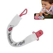 Baby Girls Boys Dummy Pacifier Soother Nipple Leash Strap Chain Clip Holder New