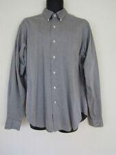Ralph Lauren Mens Cotton Gray Long Sleeve Button Down Shirt sz 16 36/37