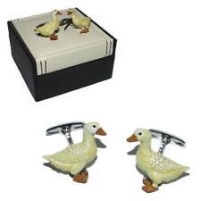 Duck CUFFLINKS Yellow Pond Nest Birdwatcher Twitcher Cruise Birthday Present