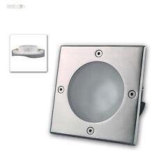 GX53 Sol Spot encastré carré IP65 Acier inox Luminaire encastrable