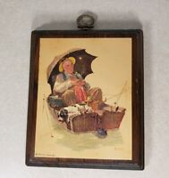 Vintage 1972 Norman Rockwell Wall Hanging Wall Art Wooden