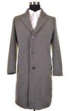 Dries Van Noten Gray TWEED Woven Wool Mens Topcoat Over Coat Jacket IT 48 US 38