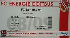 TICKET 2008/09 FC Energie Cottbus - Schalke 04