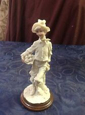 Art. 54 - Ias - Ancient Statuette in paste marble with wooden base