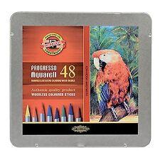 Koh-I-Noor Progresso Woodless Aquarell Coloured Pencils Set of 48