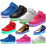 Kind Mädchen Jungen High-Top Kinderschuhe Led Licht Sneakers Schuhe Blinkschuhe