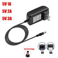 US/EU Plug Power Supply 100-240V AC/DC Adapter 5V 1A 2A 3A For LED Strip Light