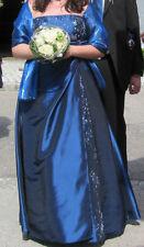 Abendkleid blau Verlobungskleid Ballkleid Abiball Trauzeugin Hochzeit Größe 46