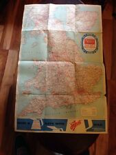 Fantastic Practical Motorists Filtrate Oils Vintage Road Map/ Poster