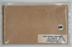 1947 P / D / S DOUBLE MINT SET OSV ANACS MINT STATE UNC P65.10 / D65.88 / S65.54