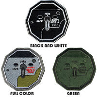 Tactical Combat Backpack Morale Embroidered Patch Badge Hook and Loop - Switch