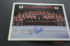 BLACKHAWKS 1991-92 TEAM PHOTO SIGNED BY MIKE PELUSO #44