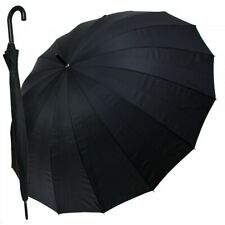 großer Golfschirm Partnerschirm Portierschirm Regenschirm XXL Happy Rain schwarz
