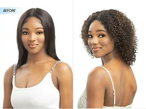 100% VIRGIN HUMAN HAIR Middle Lace WET AND WAVY STRAIGHT TO JERRY CURL