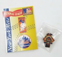 1994 New York Mets National League Baseball Lapel Hat Pin Pinback & Info Card