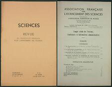 REVUE POUR L'AVANCEMENT DES SCIENCES - 1939 N°32 - Chemin de fer, Magnetisme ...
