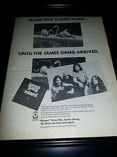 James Gang Miami Rare Original Promo Poster Ad Framed!