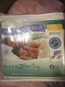 New Allerzip Mattress Protector Terry Waterproof Bed Bug Proof Full /Double