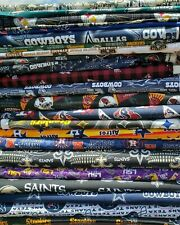 NFL Football Cotton Fabric By The 1/4, 1/8 of a yard Pick your team 100% COTTON